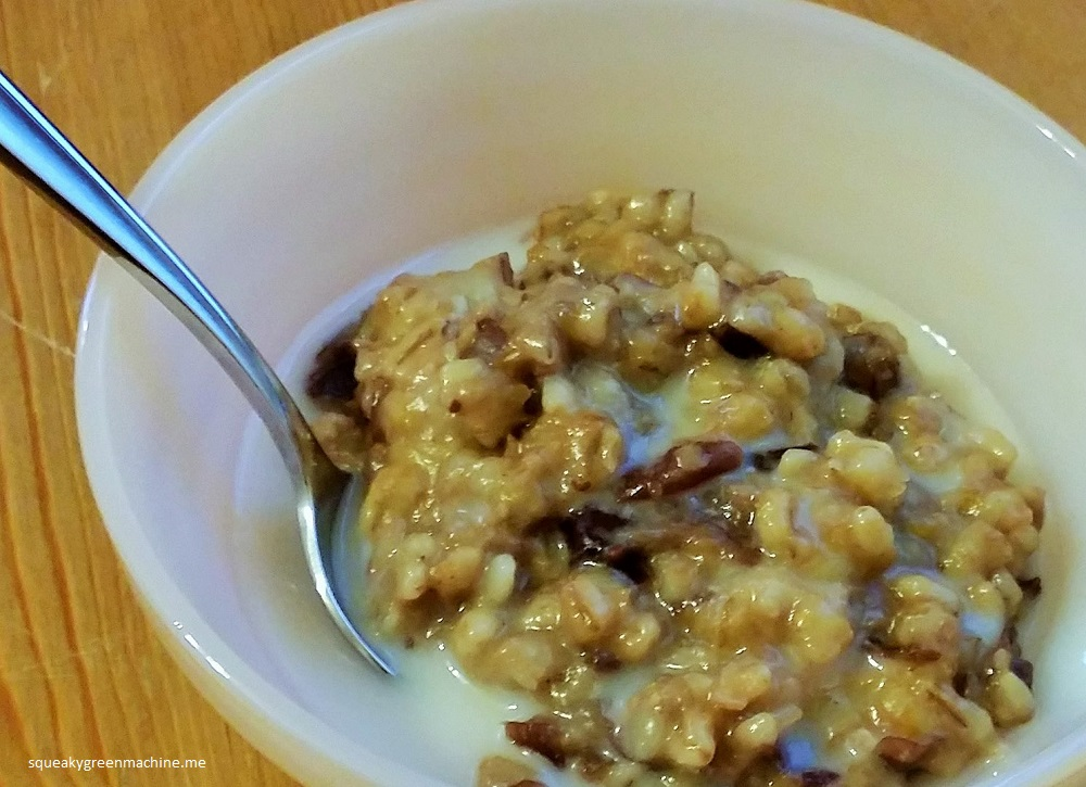 breakfast barley with coconut milk
